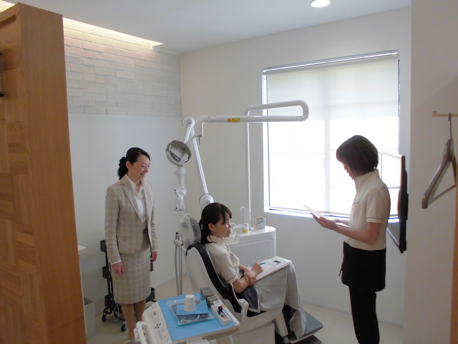 歯科診療台でのマナー